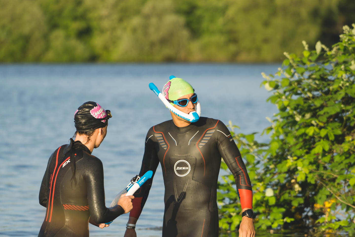 Open Water Swimming at Waterland, South Cerney